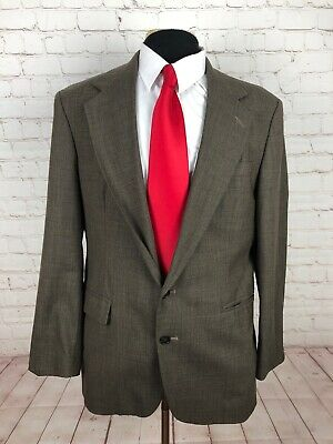 Haggar Clothing Men's Olive Green Plaid Suit 42R 36x29 $349