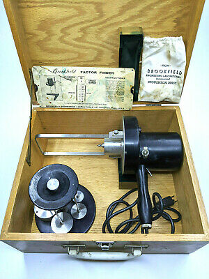 Brookfield Synchro-Lectric RVF 100 Viscometer with Spindles and Wooden Case