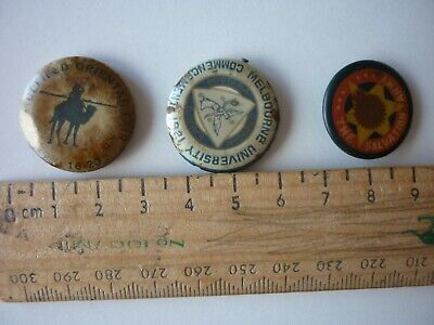 Old Badges By Three, All C. 1920S.