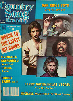 Country Song Roundup Yearbook 1981 Music Magazine Larry Gatlin - Oak Ridge Boys