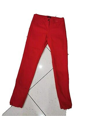 Marks & Spencer Red Skinny Jeans 12 Long Stretch