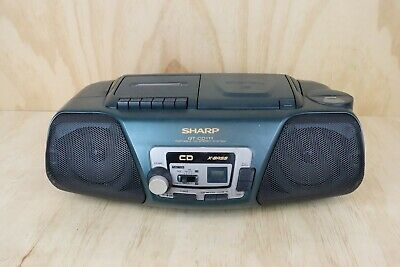 Vintage Sharp Green Boombox QT-CD111 Portable CD Stereo System X Bass