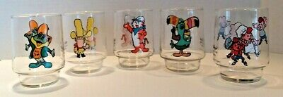 Set of 5 Kellogs Collector Glasses - 1977