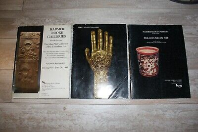 (book sale) 3X Pre-Columbian Catalogs, Harmer Rooke Galleries, NY
