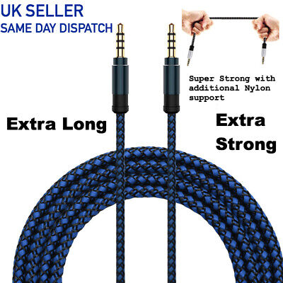Aux Cable Audio Lead-Extra Long BLUE 3M-3.5mm Jack for Headphone,MP3,iPod,PC,Car