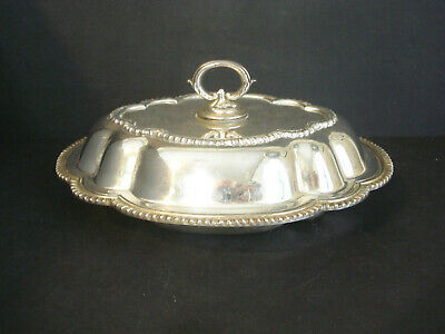 Silver Plated ~ Covered Entree / Vegetable Bowl / Dish