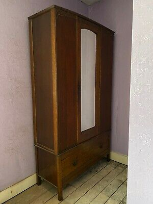 1930's Double Wardrobe - Wood And Panel