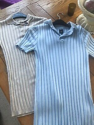 Boys Gorgeous Ribbed Muscle Fit  River Island  bundle x2 xsmall 12/13 yrs