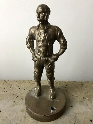 Antique CAST IRON Gold Bronze Figure Statue Sculpture Vintage
