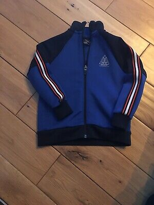Lovely Boys Tracksuit Style Zip Jacket, Royal Blue,Next, Aged 3 Yrs, Vgc