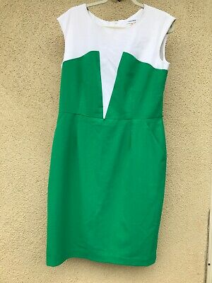 Womens Calvin Klein Colorblok Dress Size 14