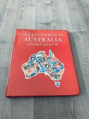 Australia Stamp Collection In Stanley Gibbons Album Over 300 Stamps Inside