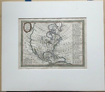 18th Century French Map of North America