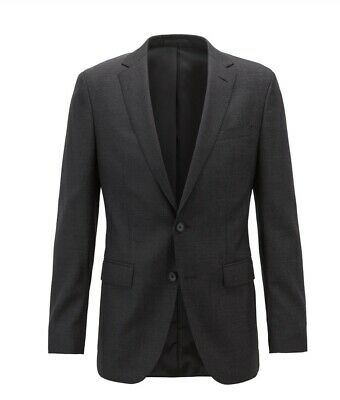 BOSS Hugo Boss Men's Slim Fit Jacket in Micro Pattern Virgin Wool MSRP $645