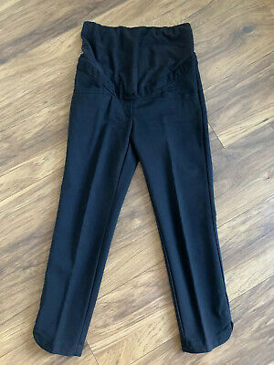 H&M Black Cropped Maternity Trousers Size 36