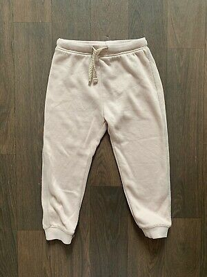 NEXT Girls Light Pink Joggers Jogging Bottoms 2-3 Years