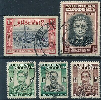 1940 British Southern Rhodesia - Used Set of 5 Stamps