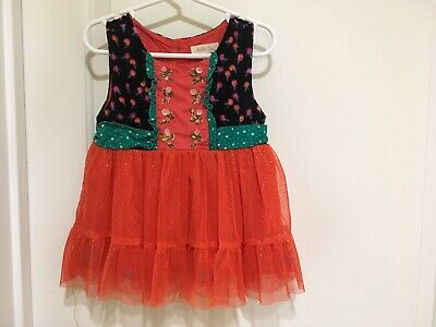 Matilda Jane CAROLING AWAY Top Girls Size 6 Sparkle Red Tulle Make Believe NWT