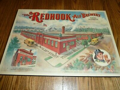 The Redhook Ale Brewery Beer Sign Vintage Non Motion Red Hook Seattle Wa