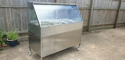Woodson Commercial Cold Bain Marie Cold Food Display Salad Bar W.CFS24