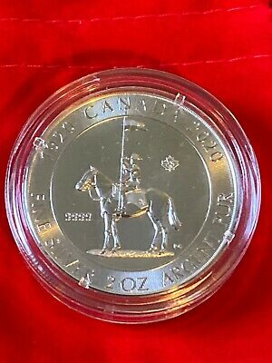 2020 Canada $10 .999 2oz Silver Coin- RCMP - Gorgeous!!! In Capsule