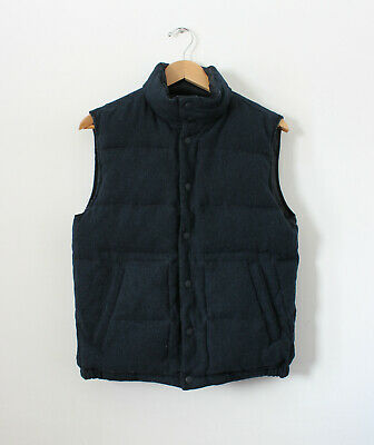 Gap Brand Men's Reversible Puffy Vest Navy Blue Size Small