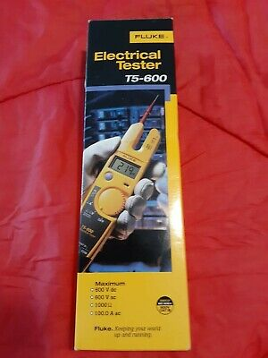 Fluke T5-600 Voltage, Continuity and Current Digital Electrical Tester Meter-NEW