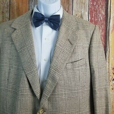 Oxxford Clothes Men's Onwentsia Linen Silk Blend Jacket Sport Coat 43 Regular