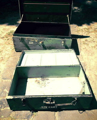 Military Army Metal Trunks