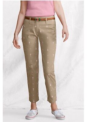 LANDS' END PANTS Size: 6 Petite NEW Embroidered Ankle Pants. Брюки Капри