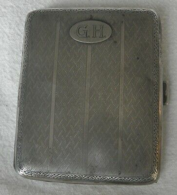 pre WWII German 835 silver cigarette case 57.30 g