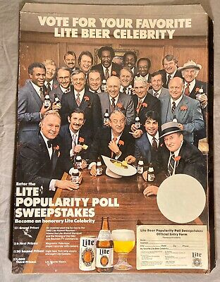 Rare Lite Beer Advertisement 1981 Miller Brewing Company Rodney Dangerfield