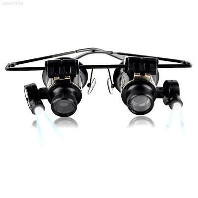 42BD 20x Magnifying Eye Magnifier Glasses Loupe Lens Watch Repair LED Light
