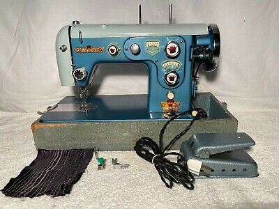 Rare Vintage Hess Sewing Machine Model 775 Deluxe Windowmatic Zig Zag SERVICED