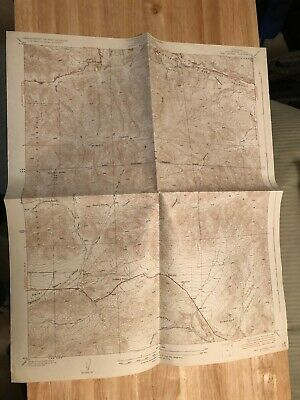 Vintage 1937 USGS Los Angeles County topo map of Red Rover quadrangle