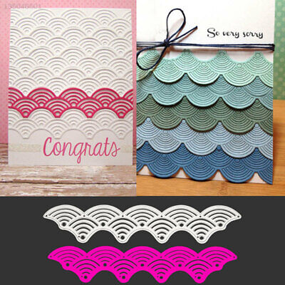 Cutting Stencil Cutting Dies Silvery DIY Paper Crafts Office Decoration Wave