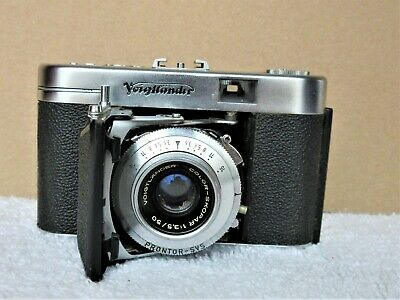Vintage Voigtlander Vito IIa 35mm Camera Original Leather Case UNTESTED Germany