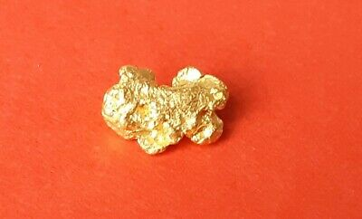 Beautiful .66 Grams Natural Western Australian Gold Nugget in individual packet