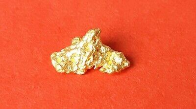 Beautiful .65 Grams Natural Western Australian Gold Nugget in individual packet