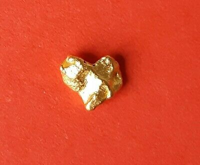 Beautiful .61 Grams Natural Western Australian Gold Nugget in individual packet