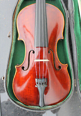 """Old used violin labeled used violin Look ! French Violin Labeled  """"1906""""  Look !"""