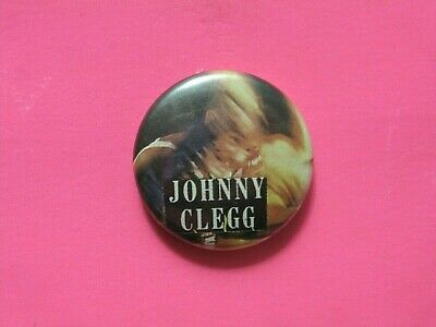 Johnny Clegg Vintage Button Badge Pin Uk Import South Africa