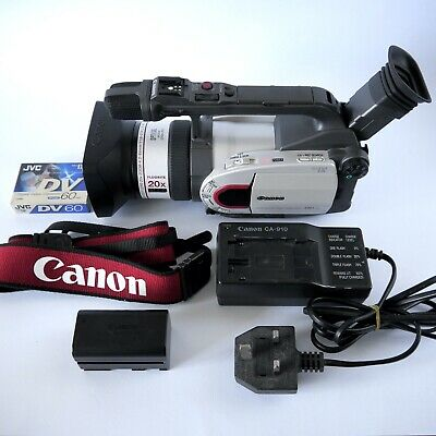 Canon Xm1 Xm-1 Camcorder 3Ccd Mini Dv Video Digital Camera Kit In Working Order