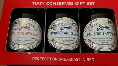 set of 3 x 340g jars of Tiptree Tipsy Conserve BNIB
