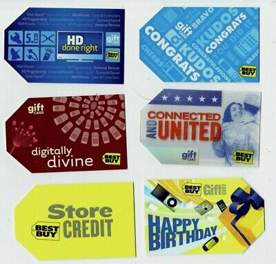 Best Buy Gift Cards - LOT of 6 - Collectible - Connected & United (Military) +