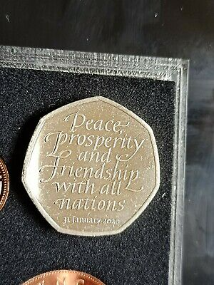 BREXIT 50P COIN UK Withdrawal from EU 2020 Fifty Pence good high grade 🇬🇧