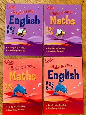 New Letts Home Learning Maths & English Workbooks Children Ages 5-7 KS1 Year 1-2