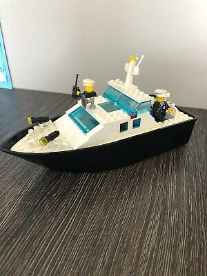 1987 Vintage Town Lotto KG LEGO 100/% Complete Set 4010 Police Rescue Boat