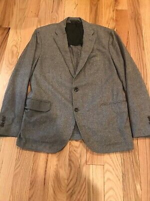 Brooks Brothers Gray White Check Wool Sport Coat Jacket - 44 R