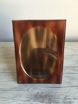 Vinatge TANO Madrid Spain TORTOISE SHELL PICTURE PHOTO FRAME with Easel